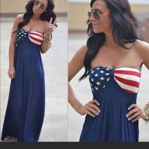 Dresses & Skirts - Maxi Stars and Stripes Dress